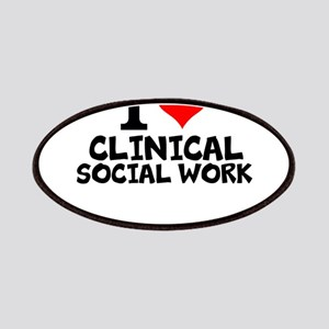 I Love Clinical Social Work Patch