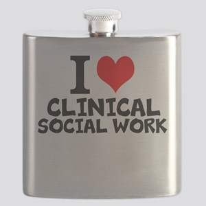 I Love Clinical Social Work Flask
