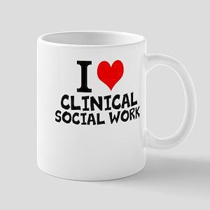 I Love Clinical Social Work Mugs