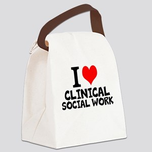I Love Clinical Social Work Canvas Lunch Bag