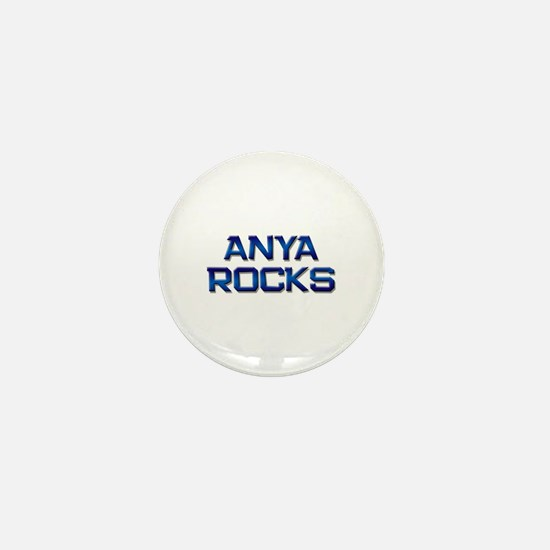 anya rocks Mini Button