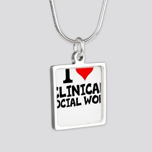 I Love Clinical Social Work Necklaces