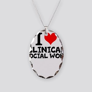 I Love Clinical Social Work Necklace