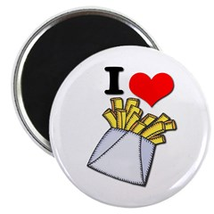I Heart (love) French Fries 2.25