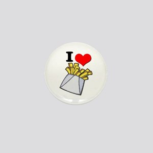 I Heart (love) French Fries Mini Button