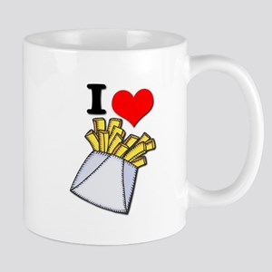 I Heart (love) French Fries Mug