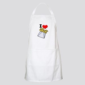 I Heart (love) French Fries BBQ Apron