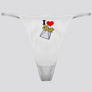 I Heart (love) French Fries Classic Thong