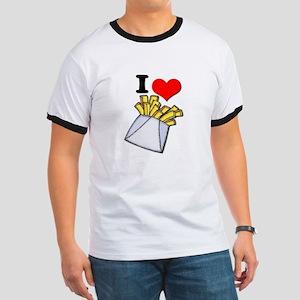 I Heart (love) French Fries Ringer T