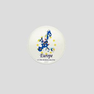 "European ""History"" Mini Button"