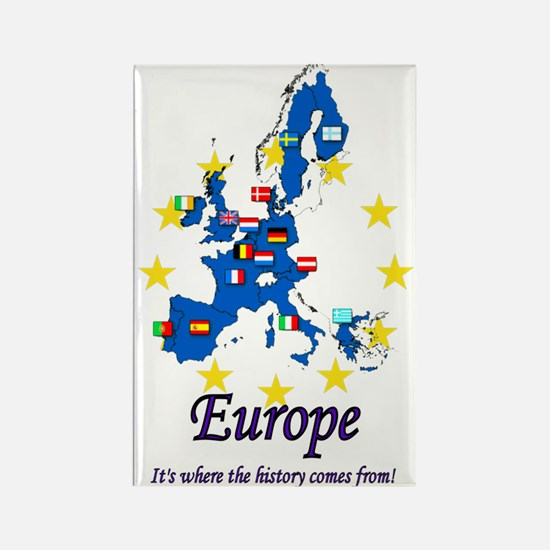 "European ""History"" Rectangle Magnet"