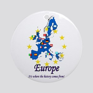"European ""History"" Ornament (Round)"