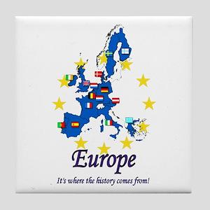 "European ""History"" Tile Coaster"