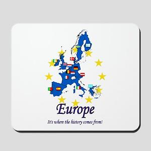 """European """"History"""" Mousepad"""