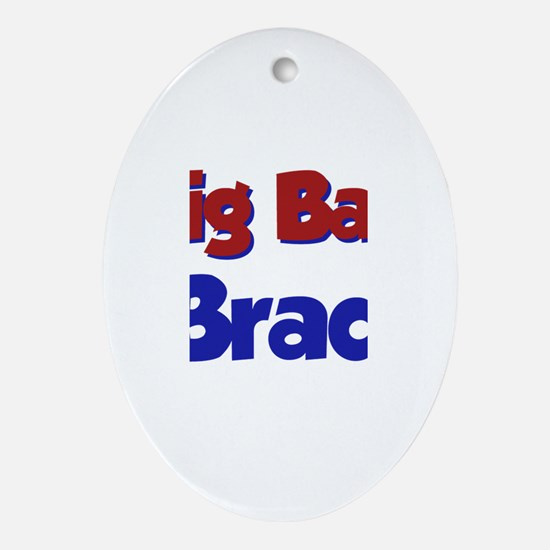 Big Bad Brad Oval Ornament