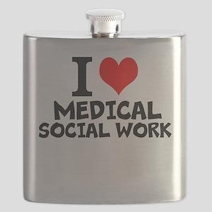 I Love Medical Social Work Flask
