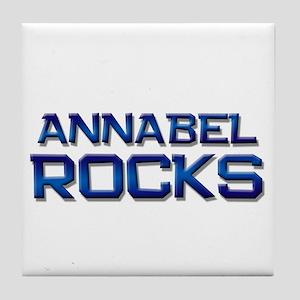annabel rocks Tile Coaster