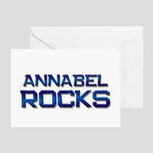 annabel rocks Greeting Card
