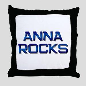 anna rocks Throw Pillow
