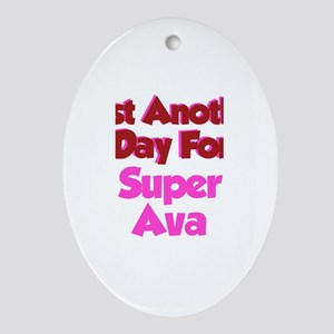 Another Day Ava Oval Ornament
