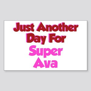 Another Day Ava Rectangle Sticker