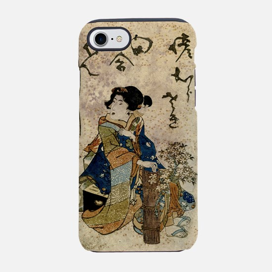 Vintage Japanese Art Woman iPhone 7 Tough Case