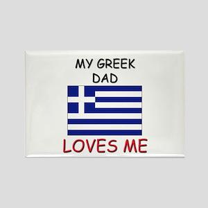 My GREEK DAD Loves Me Rectangle Magnet