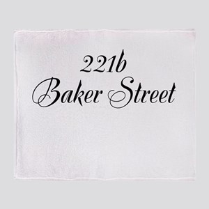 221b Baker Street Throw Blanket