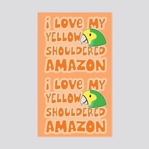 Kawaii Yellow Shouldered Amazon Sticker (2 in 1)