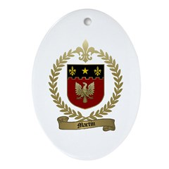 MARTIN Family Crest Oval Ornament