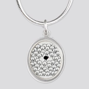 Black Sheep Silver Oval Necklace