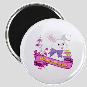 White Easter Bunny Banner Magnets
