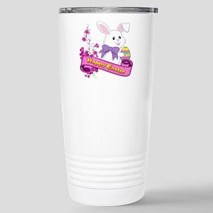 White Easter Bunny Banner Mugs