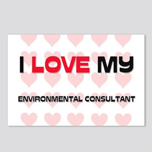 I Love My Environmental Consultant Postcards (Pack