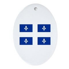 QUEBECOIS [French-Canadian] F Oval Ornament