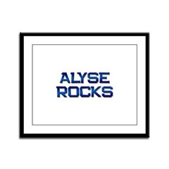 alyse rocks Framed Panel Print