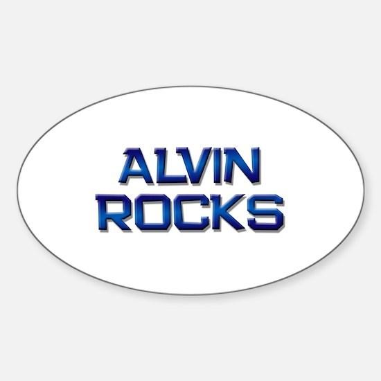 alvin rocks Oval Decal