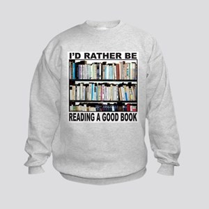 BOOK LOVER Kids Sweatshirt