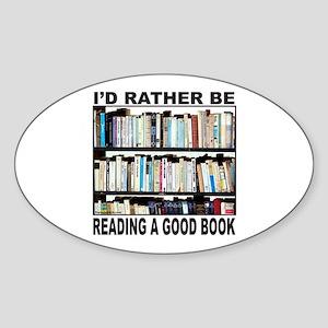 BOOK LOVER Oval Sticker