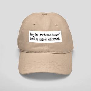 Chocolate Exercise Humor Cap