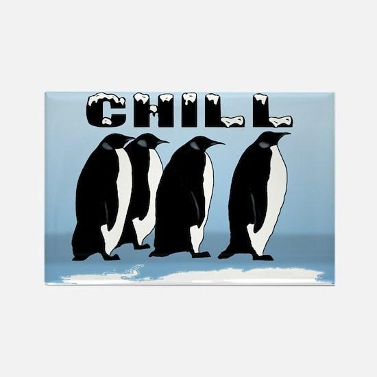 """Penguin """"Chill"""" Rectangle Magnet"""