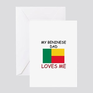 My BENINESE DAD Loves Me Greeting Card