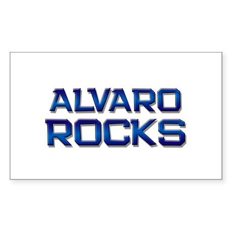 alvaro rocks Rectangle Sticker