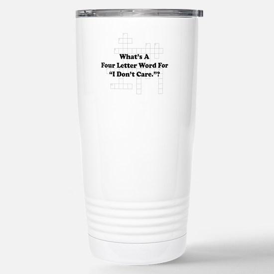 Four Letter Word Stainless Steel Travel Mug
