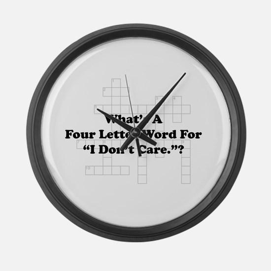 Four Letter Word Large Wall Clock