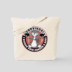 Skin Cancer Boxing Cat Tote Bag