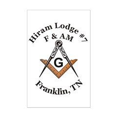 Hiram Lodge #7 Posters