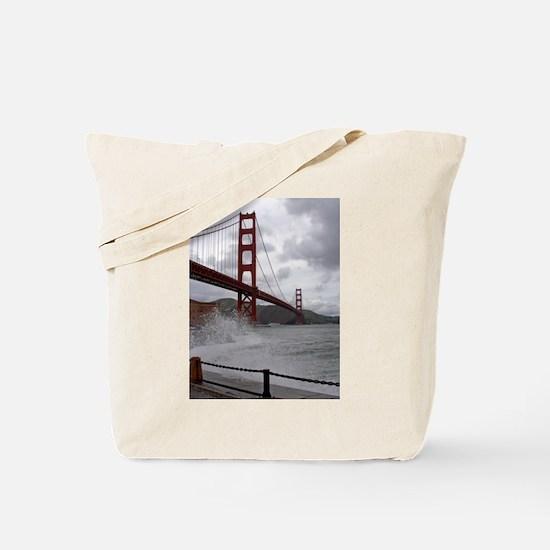 foggy golden gate Tote Bag