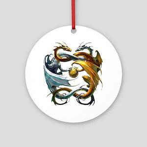 Battle Dragons Ornament (Round)