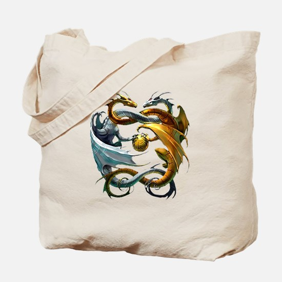 Battle Dragons Tote Bag